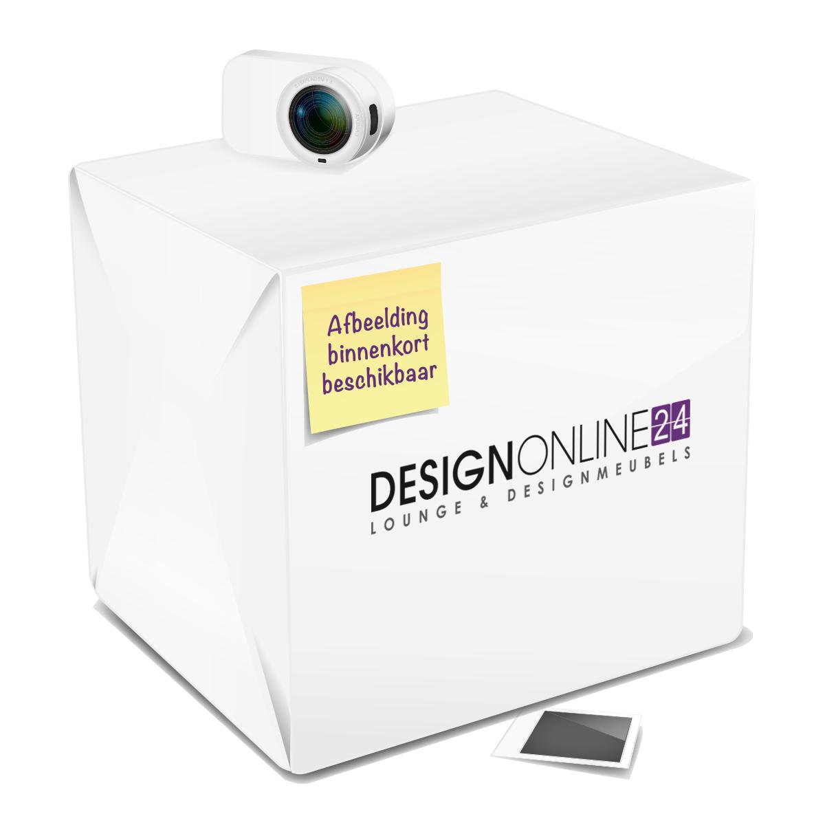 24Designs Verstelbare Barkruk Joan - Mat RVS onderstel - Kunstleren zitting - Lichtbruin