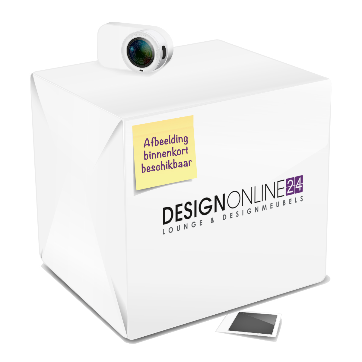 24Designs Salontafel Ambra - L80 x B80 x H45 - Glas - Marmer effect